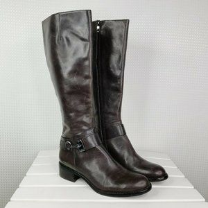Via Spiga Womens Riding Boots Size 6.5 Brown Knee